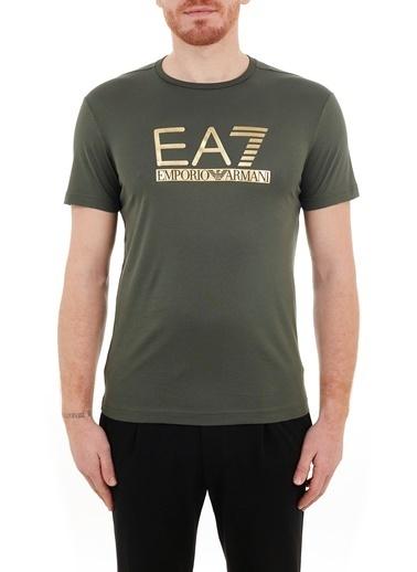 Emporio Armani  Baskılı Bisiklet Yaka % 100 Pamuk T Shirt Erkek T Shırt 3Kpt87 Pjm9Z 1862 Haki